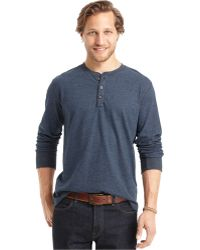 G.H.BASS - Big And Tall Long-sleeve Carbonized Henley Shirt - Lyst