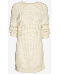 Iro Sweater Dress Ivory - Lyst