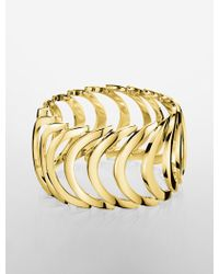 CALVIN KLEIN 205W39NYC - Platinum Body Pvd Gold Bracelet - Lyst