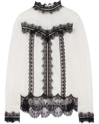 Anna Sui Vintage Lace Top white - Lyst