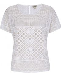 Temperley London Marine Embroidered Top white - Lyst