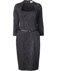 Lela Rose Fitted Sheath Dress - Lyst