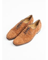 Billy Reid Piped Clove Shoe brown - Lyst