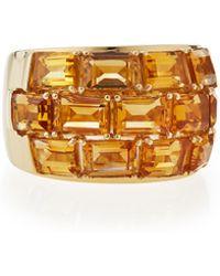 Poiray - 18k Yellow Gold Citrine Statement Ring - Lyst