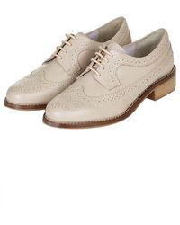 Topshop Katie Lace-Up Brogues - Lyst