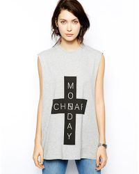 Cheap Monday Cross Tank - Lyst