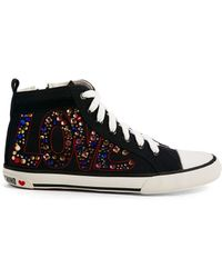 Love Moschino Love High Top Sneakers - Lyst