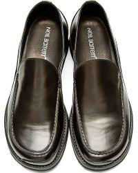 Neil Barrett - Black Leather Loafers - Lyst