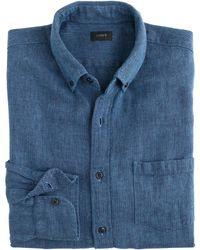 J.Crew Chimala® Denim Western Shirt blue - Lyst