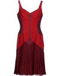 Zac Posen Red Short Dress - Lyst