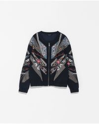 Zara Special Edition Embroidered Jacket - Lyst