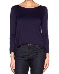 Feel The Piece Suvi Long Sleeve Top In Navy - Lyst