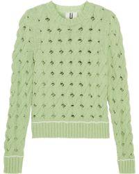 Topshop Unique - Ixworth Cable-knit Cotton-blend Sweater - Lyst