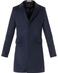 Paul Smith Navy Cashmere Coat - Lyst