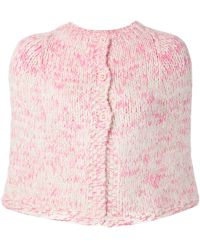 Dosa - Knitted Button Cape - Lyst