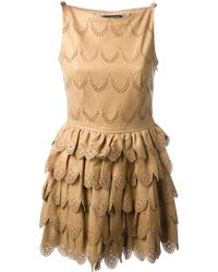 DSquared2 Perforated Tiered Dress - Lyst