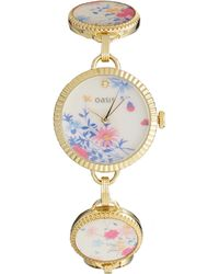 Oasis Patterned Bracelet Watch with Patterned Dial - Lyst