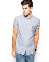 Paul Smith Paul Smith Shirt in Stripe Short Sleeve with Contrast Pocket - Lyst