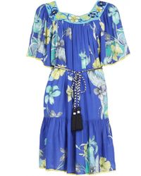 Matthew Williamson Botanical Feather Embroidered Smock Dress - Lyst