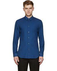 Maison Margiela Navy Classic Shirt - Lyst