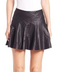 Free People | Leather-like Miniskirt | Lyst