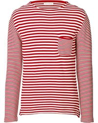 Oliver Spencer Cotton Mixed Stripe Tshirt - Lyst