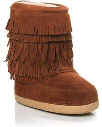Aquazzura Boho Fringe Boot brown - Lyst
