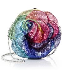 Judith Leiber Rose Multicolor Swarovski Crystal Clutch - Lyst