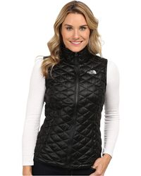 The North Face Black Thermoball Vest - Lyst