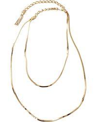 Lanvin Art Deco Long Necklace - Lyst