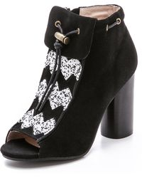 House Of Harlow Max Suede Booties - Black - Lyst