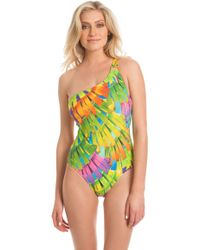 Trina Turk Palms One Shoulder One Piece multicolor - Lyst