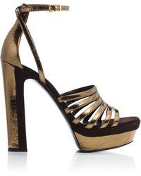 Tamara Mellon Supreme Sandal - 105Mm gold - Lyst