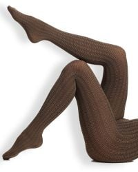 Wolford Elena Tights brown - Lyst