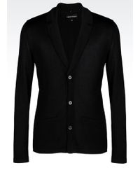 Emporio Armani Jacket In Viscose Blend With Detachable Lapels - Lyst
