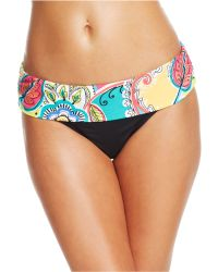 Anne Cole Printed Foldover Hipster Brief - Lyst