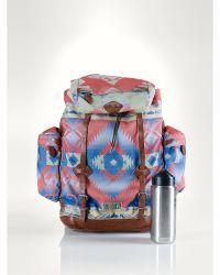 Ralph Lauren - Patterned Nylon Backpack - Lyst