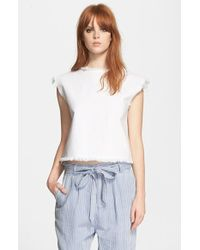 Marc By Marc Jacobs Frayed Sleeveless Denim Top - Lyst