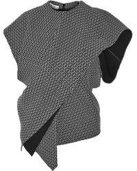 Marni Textured-Knit Wrap Top - Lyst