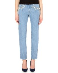 Emanuel Ungaro Slim Mid-rise Jeans - Lyst