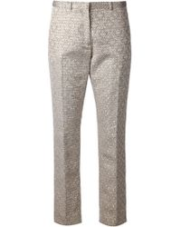 Joseph Metallic Print Cropped Trousers - Lyst