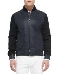 Loro Piana Smooth And Suede Lambskin Bomber Jacket - Lyst