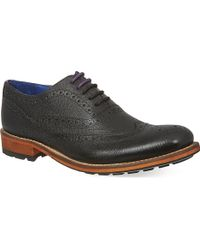 Ted Baker Guri 7 Wingcap Oxford Shoes Black - Lyst