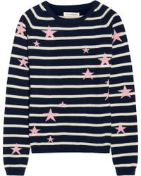 Chinti And Parker Starintarsia Striped Cashmere Sweater - Lyst