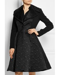 Temperley London Novah Quilted Satin And Crepe Coat - Lyst