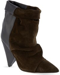 Isabel Marant Andrew Suede and Leather Ankle Boots Brown - Lyst