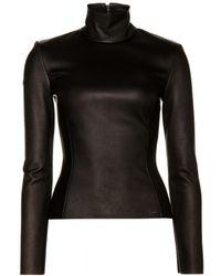Altuzarra Holland Stretch-leather Turtleneck Top - Lyst