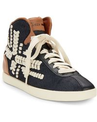 Alexander McQueen x Puma Medius Embroidered Hightop Sneakers - Lyst