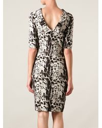 Blumarine Animal Print Dress - Lyst