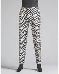 Dolce & Gabbana | Trousers In Printed Linen | Lyst